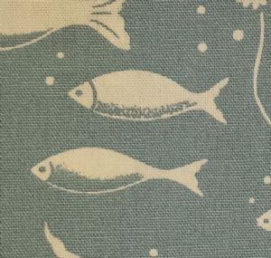 Ceramic Wall Tiles Made With Cath Kidston Fish Blue